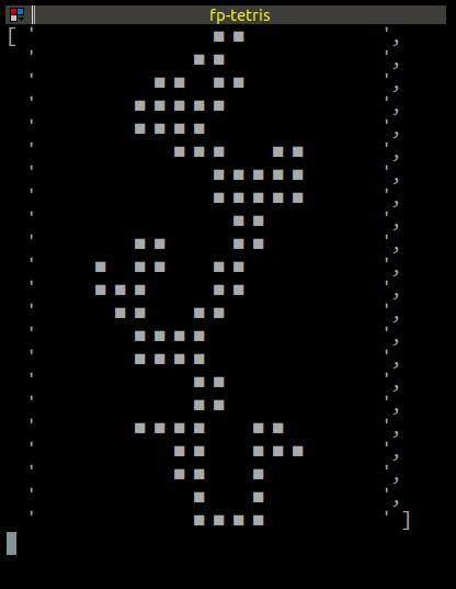 console tetris screenshot